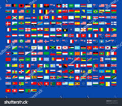 Country Flags Of The World 257 World Country Flags Alphabetically Order Stock Illustration