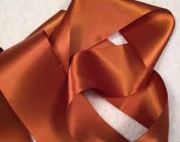 copper ribbon copper satin ribbon etsy