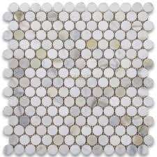 calacatta gold 3 4 inch penny round mosaic tile polished marble