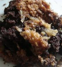 german chocolate upside down cake food pinterest german