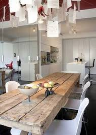 Dining Room Wood Tables Scandinavian Design Natural Wood Table White Chairs Dining