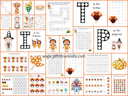 thanksgiving do a dot printables color shapes worksheets and