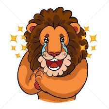 cartoon lion tears joy vector image 1957589 stockunlimited