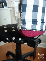Fabric Covered Desk Chairs Diy Office Chair Makeover With Fabric In My Own Style