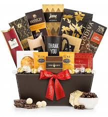 gourmet gift basket deluxe thank you selection gourmet thank you gift basket