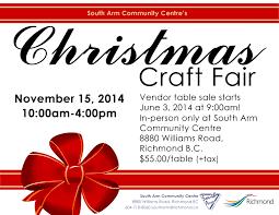 city of richmond bc south arm u0027s christmas craft fair