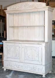 hand painted european hutch painted hutch with open shelves