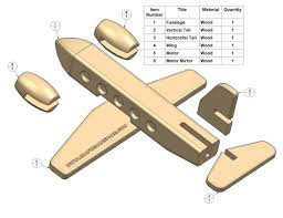 free plans passenger plane kids toy plan