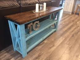 Diy Console Table Plans by Ana White Rustic X Sofa Table Diy Projects