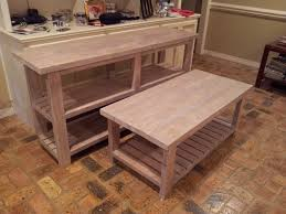ana white rustic x console coffee and end tables diy projects