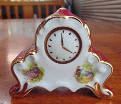 limoges miniature decorative clock u2013 smolle u0027s trading mart