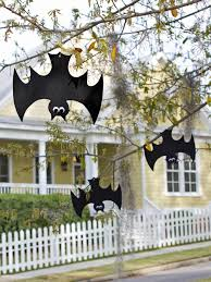 cool halloween yard decorations halloween bat decorations craft for kids hgtv