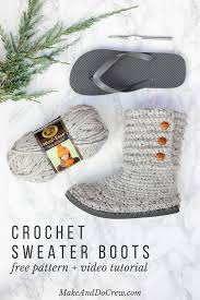how to crochet boots with flip flops free pattern video