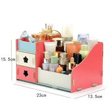 funique wooden jewelry storage box container makeup organizer box combinable cosmetic organizer diy assembly 23 15 5 13 5cm