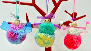 pom pom fairies dolls diy yarn art craft how to make it handmade