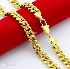 new arrival fashion 24k gp gold plated mens women 2018 2016 fashion jewelry 24k gold chain gjh64 6 5mm men s 24k