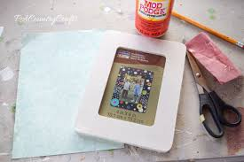 scrapbook paper picture frame tutorial pa country crafts