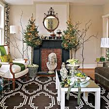 living room elegant white christmas living room green tree with