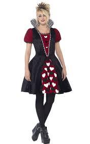 young girls halloween costume dark queen of hearts teen costume red queen girls halloween costume