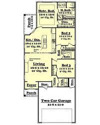 European Style House Plan 3 Beds 2 00 Baths 1400 Sq Ft Plan 430 50 16 X 50 Floor Plans