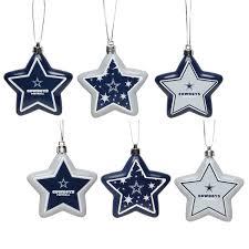 dallas cowboys 6 pack shatterproof ornament set nflshop
