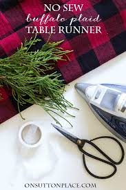 make christmas table runner no sew buffalo plaid table runner on sutton place