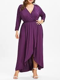 violet dress violet 4x plus size plunge wrap high low dress nastydress