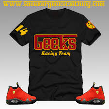 jordan ferrari black and yellow sneakergeeks clothing geeks racing team t shirt to match jordan