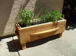 herb planter boxes wood gates arched yard custom redwood see through