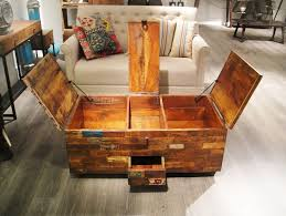 Wood Coffee Table With Storage Stunning Storage Trunk Coffee Table Ideas And Design Dans Design