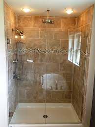 small bathroom shower ideas pictures creative small with window and mosaic backsplash tile feat pretty