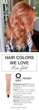 hair color formula hair color trends 2017 2018 highlights this copper rose gold