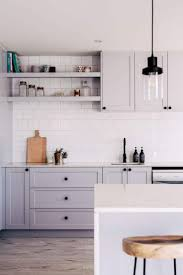 light grey kitchen cabinets with wood countertops 40 and welcoming grey kitchens for your home