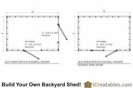 8x12 short shed plans icreatables com