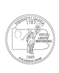 coloring pages quarter usa printables pennsylvania state quarter us states coloring pages