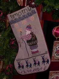 cross stitch christmas stocking in our one has the name