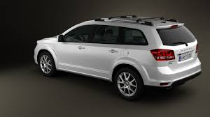 Dodge Journey White - 360 view of dodge journey 2011 3d model hum3d store