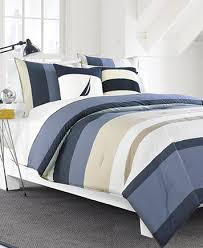 nautica grand bank cotton 3 pc colorblocked full queen duvet