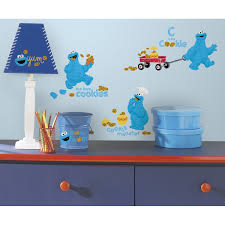 sesame street wall decals roselawnlutheran room mates popular characters sesame street me love cookie monster wall decal