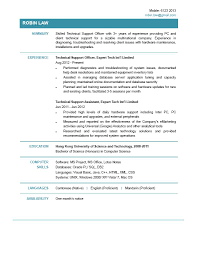 Resume Samples Latest 2015 by It Support Resume Resume For Your Job Application