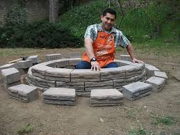 Rumblestone Fire Pit Insert by How To Build A Fire Pit The Home Depot Community