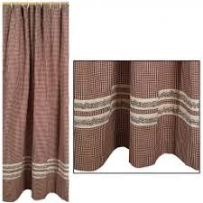 primitive country style shower curtains