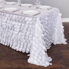 90 x 156 table 90 x 156 in rectangular petal tablecloth white white gold
