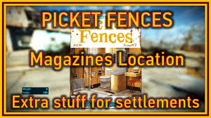 fallout 4 picket fences magazines location youtube