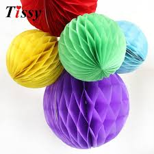 1pc 6 15cm 15 colors best price of tissue paper honeycomb