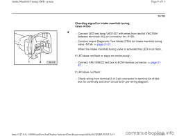 audi a4 1997 b5 1 g aha engine intake manifold tuning system