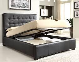 queen bedroom set w storage bed black
