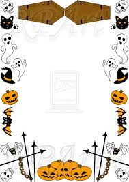 halloween page border clip art library halloween page borders