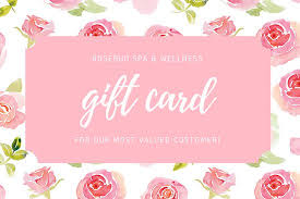 spa gift cards pink floral watercolor spa gift certificate templates by canva