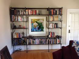 diy steel pipe shelves pipes diy pipe and shelves